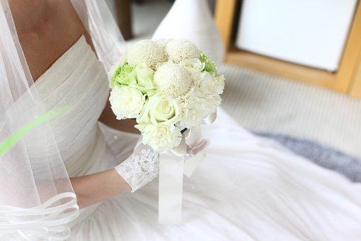 Bouquet, Wedding Ceremony, West, Romantic, Priest