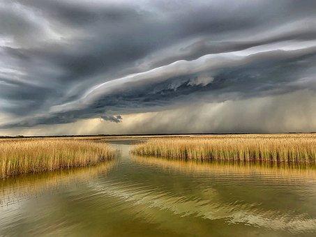 Wolken, Bodden, Thunderstorm, Storm