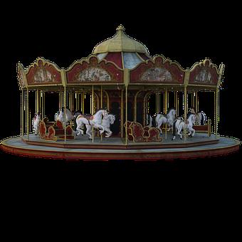 Carnival, Carousel, Horse, Ride, Summer, Fair, Fun, 3d