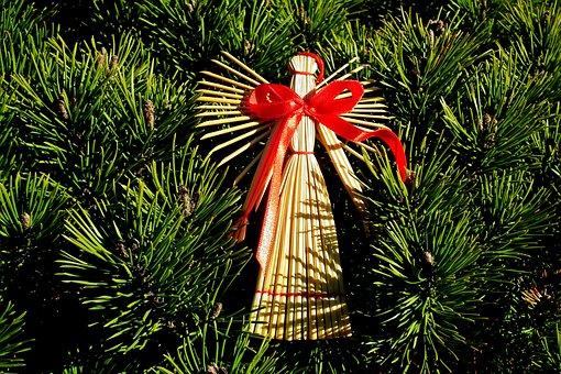 Angel, Ornament, Decoration, Christmas Tree, Festive