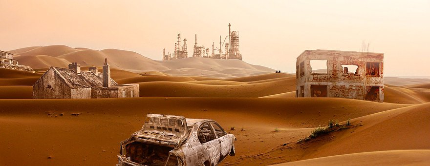Apocalypse, Desert, Ruins, Lost, End, End Time