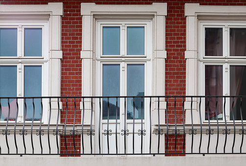 Facade, House, Window, Balcony, Architecture