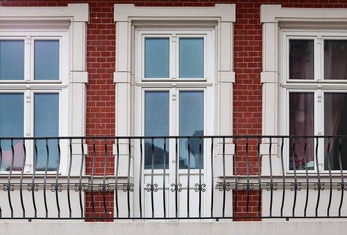 Facade, House, Window, Balcony, Architecture