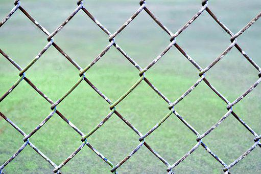Field, Fence, Baseball, School, Athlete, Soccer, Foggy