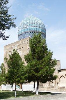 Samarkand, Mosque, Bibi Khanum, Uzbekistan, Islam