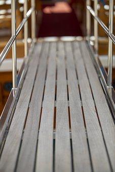 Wood-fibre Boards, Bridge, Boots, Ship, Sailboat, Wood