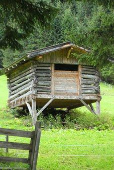Hut, Wood, Scale, Building, Landscape, Nature, Barn