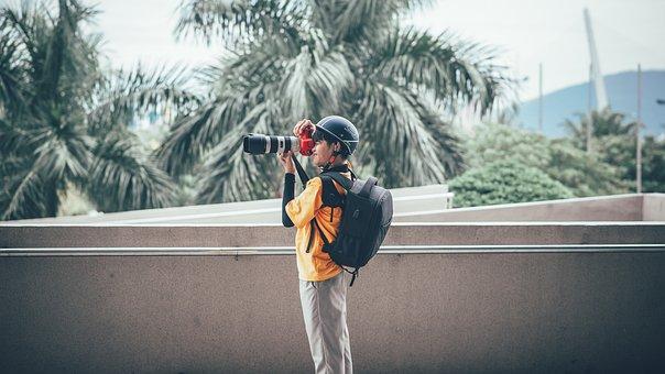Camera, Man, Photographer, Photography, Person, Human