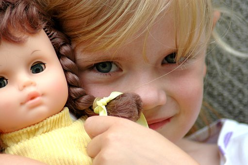 Child, Baby Girl, Doll, Toy