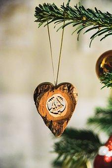Christmas Tree, Christmas, Ornament, Wooden
