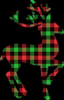 Buffalo Plaid Deer, Deer, Holiday, Christmas, Winter
