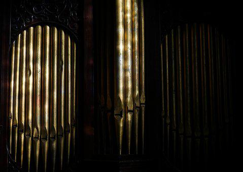 Organ Pipes, Church, Stamford, Instrument, Pipes