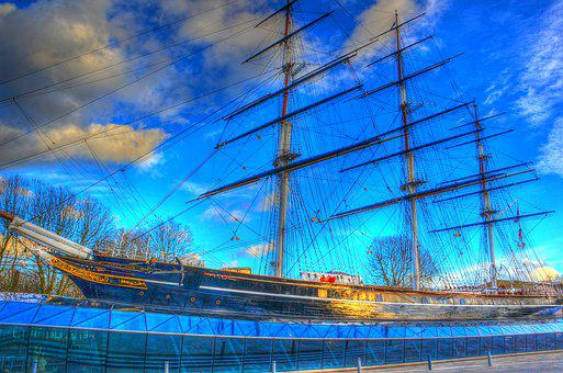 Cutty Sark, London, England, Clipper, Ship, Greenwich