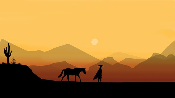 Horse, Man, Desert, Rider, Person, Horseback
