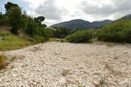 River, Riverbed, Dry, Pebble, Nature, Landscape