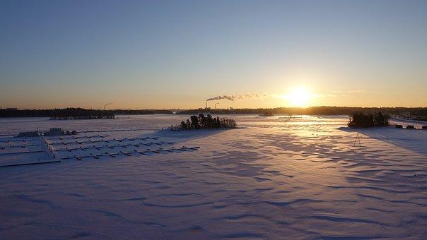 Keilalahti, Espoo, Helsinki, Sea, Morning, Finnish, Sky