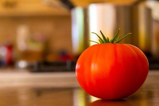 Tomato, Counter, Fresh, Fruit, Healthy, Red, Orange