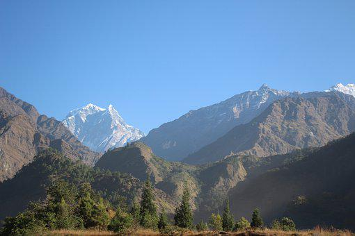 Mountain, Nepal, Hi, Himalayas, Landscape, Mountains