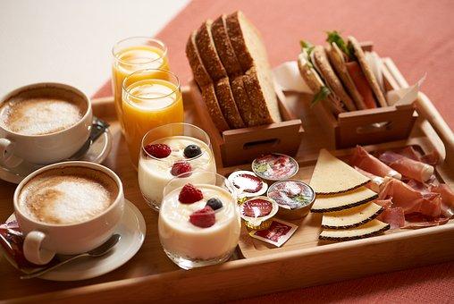 Snack, White, Toast, Eating, Home, Menu