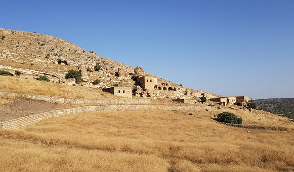 Village, Autumn, Yellow, Landscape, Mesopotamia, Wolf