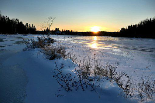 Landscape, Nature, Sunset, Scenic, Trees, Sky, Snow