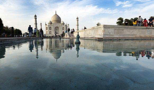 Taj-majal, Agra, India, Mausoleum, Marble, Monument