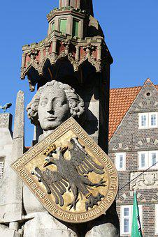 Bremen, Monument, Roland, Statue, Sculpture, Landmark