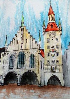 Marienplatz, Altes Rathaus, Munich, Old Town Hall