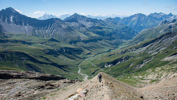Mountains, Mont Blanc, Clouds, Sky, Panorama, Snow