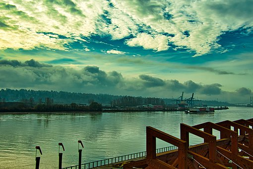 Riverbank, Waterfront, Water, River