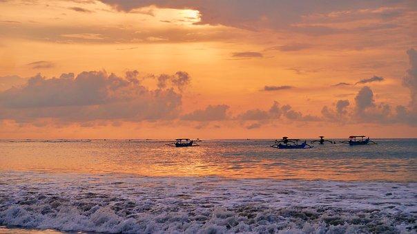 Sun, Bali, Vacations, Sea, Water