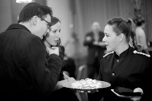 Waiter, Waitress, Food, Woman, Serving, Server, Service
