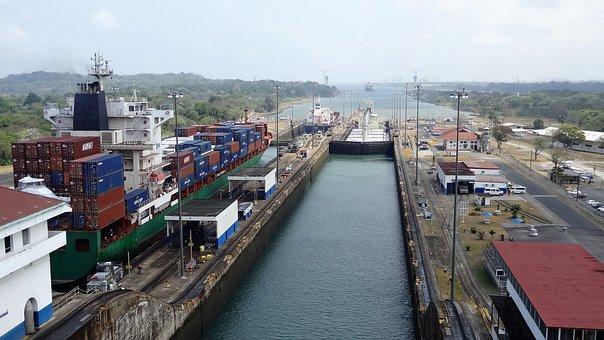 Panama Canal, Panama, Cruise, Ship, Vessel, Freight