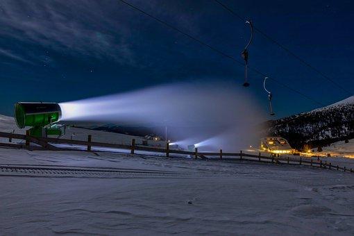 Snow Cannon, Winter, Skiing, Ski Run