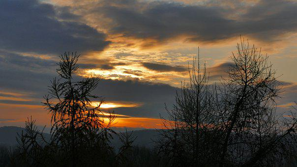 Sunrise, Sky, Clouds, Landscape, In The Morning