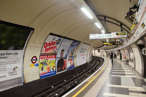 Tube, Underground, London, Uk, Tunnel Subway