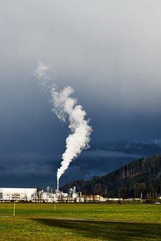 Industry, Air Pollution, Tyrol, Alpine, Kitzbühel, Blue