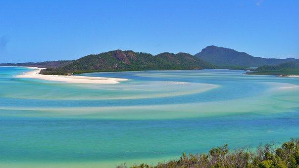 White Heaven Beach, Beach, White, Water, Summer, Blue