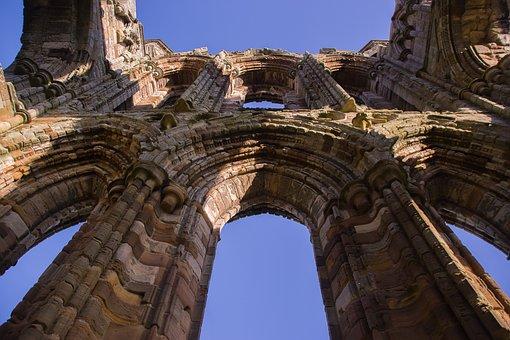 Whitby Abbey, Abbey, Ruin, Window