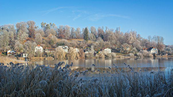 Winter, Frost, Cold, Bavaria, Lake