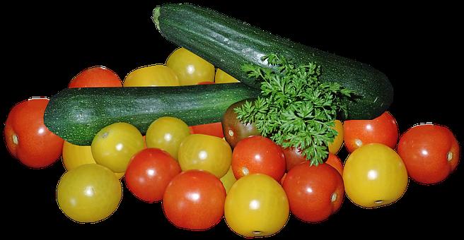 Vegetables, Tomatoes, Zucchini, Marrow, Parsley