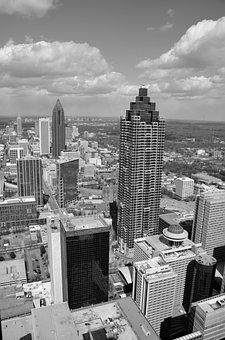 Atlanta, Georgia, Aerial View, City, Downtown, Usa