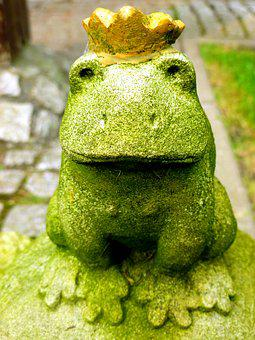Frog Prince, Fairy Tales, Frog, Crown, Fig, Animal