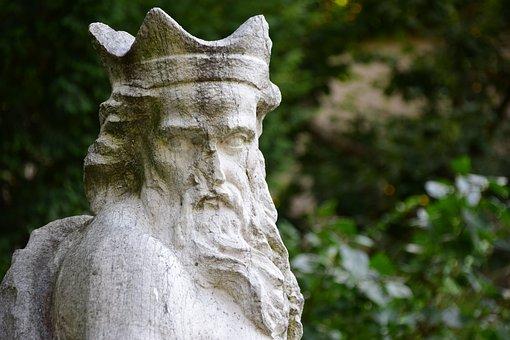 Statue, Stone, King, Petrified, Bust, Crown, Bart, Head