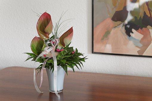 Interior, Bouquet, Birthday Card, Harmonious, Color