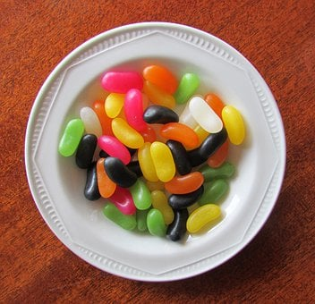 Jelly Beans, Jelly Sweets, Jelly Candy, Candy In Bowl