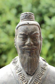 China, Stature, Fig, Sculpture, Asia, Stone Figure