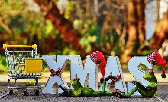 Online Shopping, Shopping Cart, Christmas, Shopping