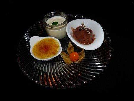 Dessert, Crème Brûlée, Bruelee, Sweet Dish, French