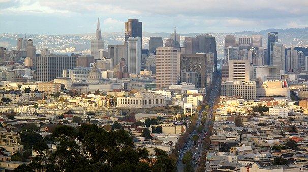 San, Francisco, Market, Street, Downtown, California